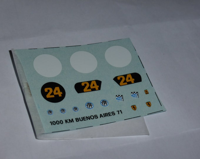 1:43 decals sheet for Ferrari 312 PB 1000km Buenos Aires 1971 #24 Giunti/Merzario Tameo TMK145