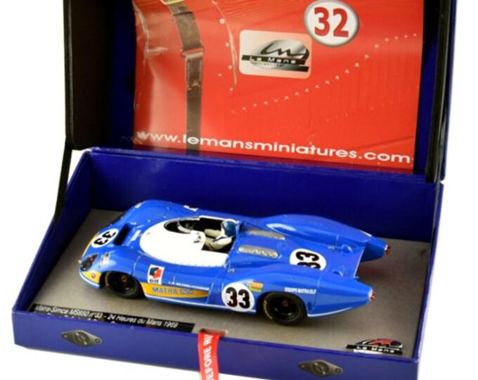 Matra MS650 Le Mans 1969 #33 Courage/Beltoise GTS Série Le Mans Miniatures slot car 1:32 1320079M