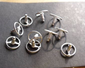 high quality white metal two-spoke steering wheels 50/60s 1:43 scale models Remember SP01 (pack of 10)