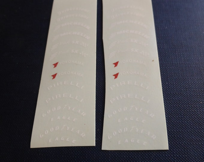 high quality decals racing tires various logos (see photos) 1:18 Remember TK220