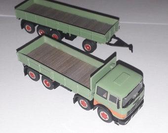 Fiat 180 four axles and 4 axles trailer (version 2) Handbuilt model by Nonomologati on Brekina base 1:87 H0