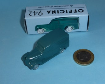 Fiat 1100 BLR Van 1948 in peacock blue Officina942 new vintage small diecast model in 1:76 (00) scale new in box #1002B