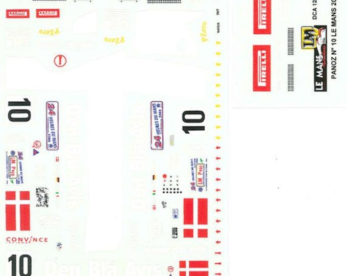 high quality 1:24 decals sheet Panoz Ford LMP Le Mans 2000 #10 Le Mans Miniatures DCA124033