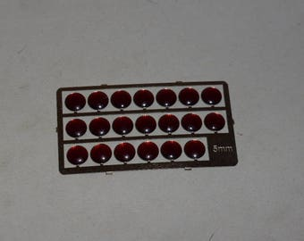 high quality photoetched+resin lights round red mm 5 FLFO5 for model cars and other models