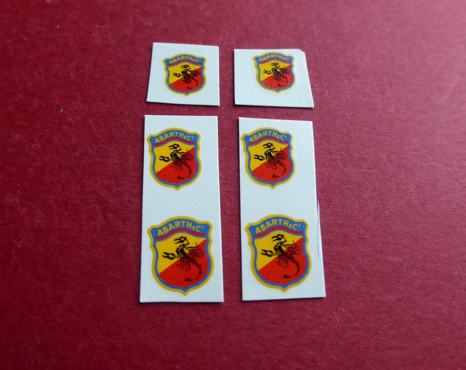 Abarth emblems for 1:18 models (and other big scales) - 3 sizes [02DE18]