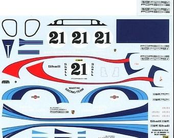 high quality 1:24 decals sheet Porsche 917LH Martini Le Mans 1971 Larrousse/Elford Le Mans Miniatures DCA124040