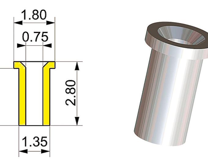 1:43 machined aluminium inlet trumpets mm 0.5 (12 pieces) Tameo PG04