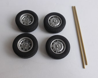Campagnolo wheels and tires for Abarth and other sports-racing cars of the 60-70s 1:18 REMEMBER W64