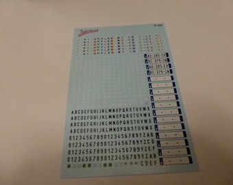 decals for modern French registration plates 1:24 scale Tin Wizard PI2-24