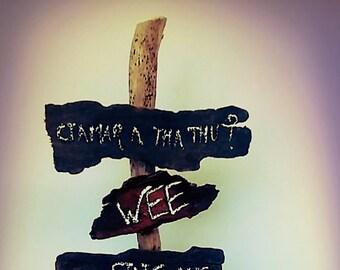 Outlander Driftwood name sign