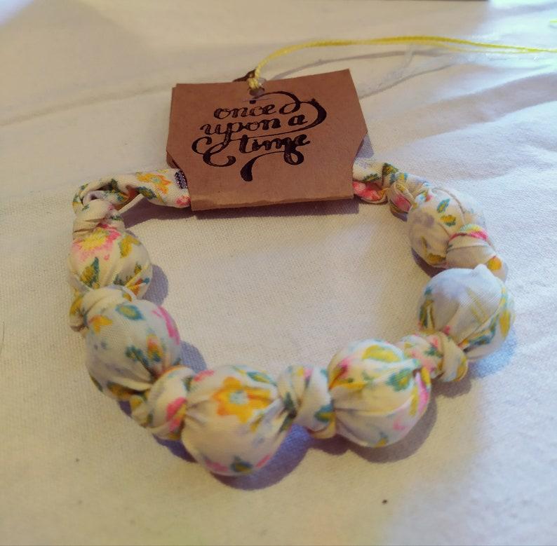 Alice in Wonderland theme Fabric bracelet