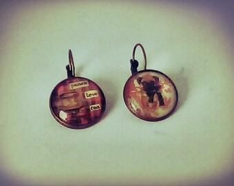 Put and tea earrings