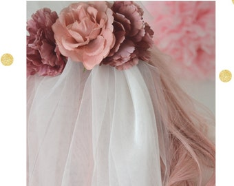 Flower Veil Country Blooms