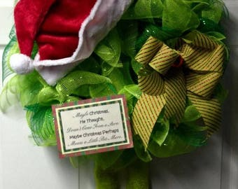 Whimsy Mr. Grinch Holiday Wreath