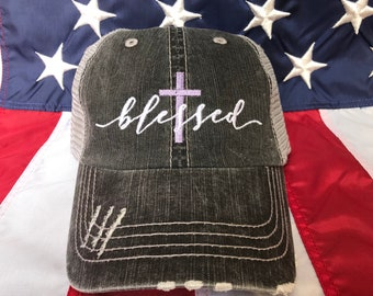 4b7d84b2690 Blessed Cross embroidered hat