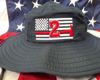 Thin RED Line SPARTAN Firefighter Fireman Flex Fit Baseball Cap Hat Choose Color