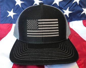 c6d1aa79d20 American flag embroidered hat