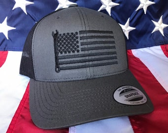 Custom Snapback Hats for Men /& Women Mechanic Wrench Embroidery Cotton Snapback