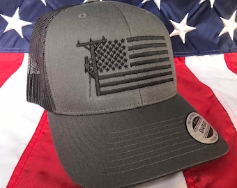 226801efc68 Any colors, all black Lineman flag embroidered hat, lineman baseball cap,  lineman, custom baseball cap, dark grey lineman hat