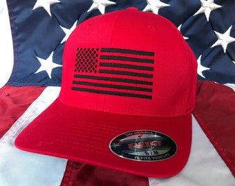 Free personalization black American flag Olive green hat  322e12aa3b7