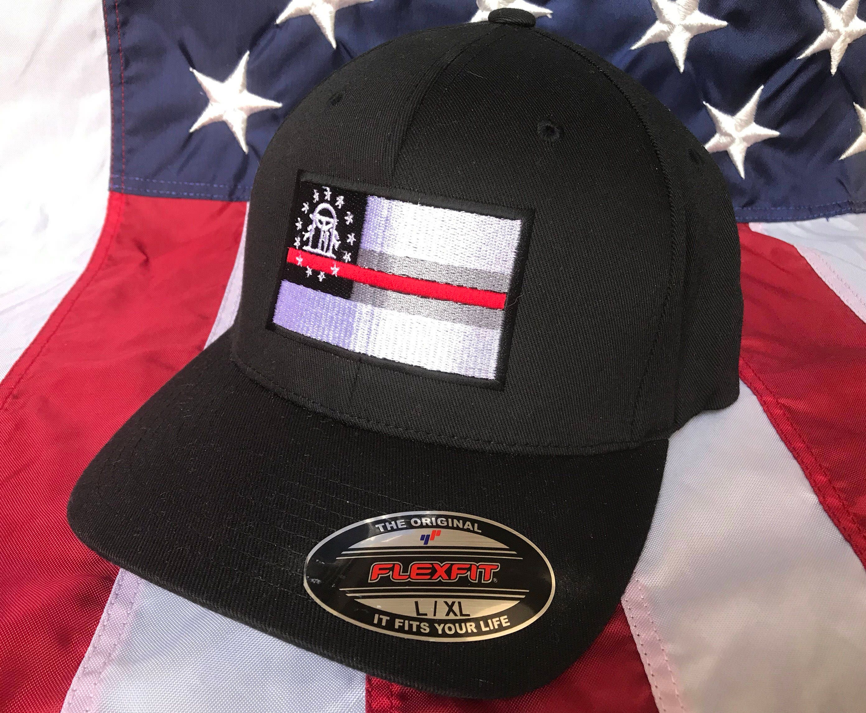 71b3ba76 ... new zealand thin red line ga state flag fire fighter embroidered cap  firefighter hat georgia fire