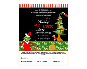 WHO-LIDAY Christmas Party Handout 8x10