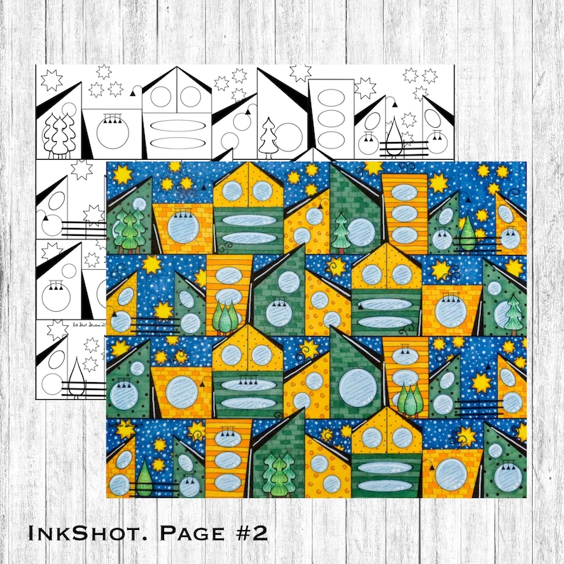 Adult Coloring Page 2 Architecture Printable Download image 0