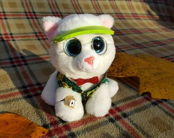 Customized TY Beanie Baby Boo plush - Slick the blackjack dealer cat! He  may not have an ace up his sleeve 3ccd5bf2799