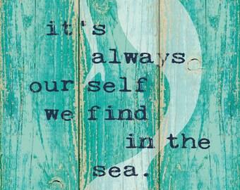 Inspirational Mermaid 12x24 PRINT
