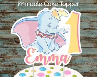 Printable Dumbo Cake Topper, Printable Dumbo Centerpiece, Dumbo Birthday Party Decorations, DIY Dumbo Centerpiece, Dumbo Baby Shower