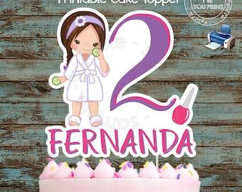 Awe Inspiring Spa Cake Toppers Etsy Personalised Birthday Cards Xaembasilily Jamesorg