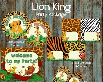 Lion King Party Package Birthday Supplies Printable Decorations