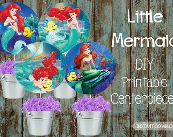 Little Mermaid Birthday Decorations Etsy