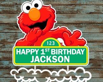 Printable Elmo Cake Topper Custom Centerpiece Birthday Party Decorations Supplies Sesame Street