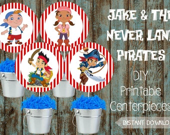 Jake And The Neverland Pirates Centerpieces Etsy