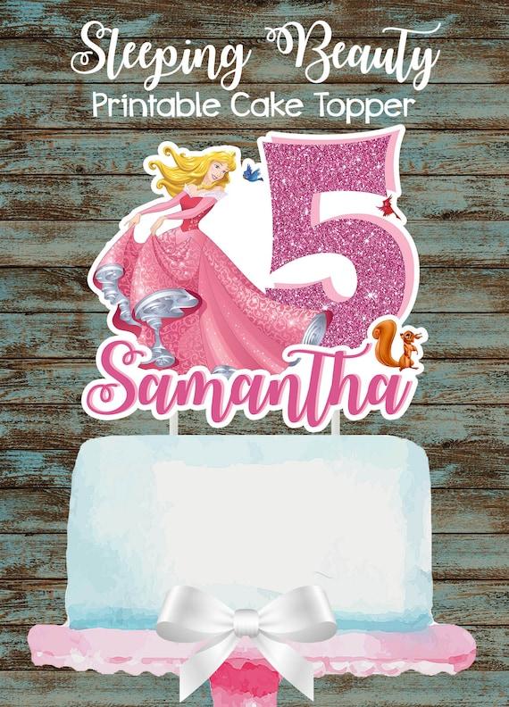 Party Bags Personalised Disney Sleeping Beauty Princess White Cake
