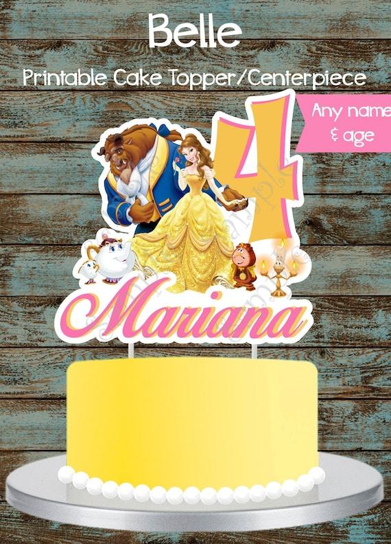 Brilliant Custom Beauty And The Beast Cake Topper Beauty And The Beast Etsy Funny Birthday Cards Online Elaedamsfinfo