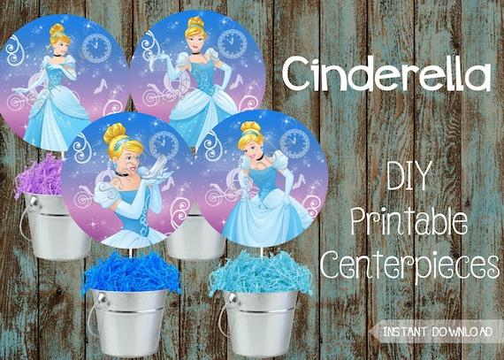 Cinderella Printable Birthday Party Decorations Disney Cinderella Birthday party Printable Cinderella Cake topper Cinderella Centerpiece