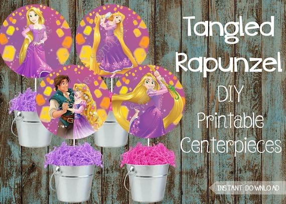 Printable Tangled Rapunzel Centerpieces Tangled Rapunzel Decorations Tangled Rapunzel Birthday Party Tangled Rapunzel Party Supplies