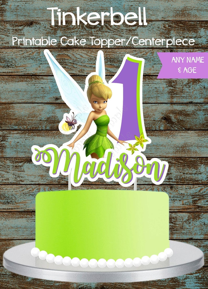 Tinkerbell Cake Topper Printable Centerpiece