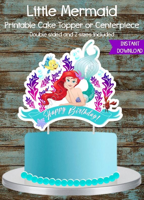 Little Mermaid Cake Topper Little Mermaid Printable Etsy