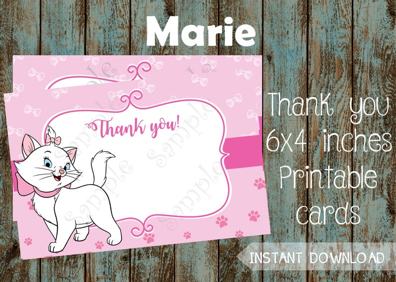 Marie Thank You Card Aristocats Disney