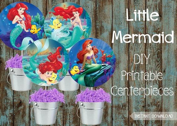 little mermaid centerpieces little mermaid decorations etsy. Black Bedroom Furniture Sets. Home Design Ideas