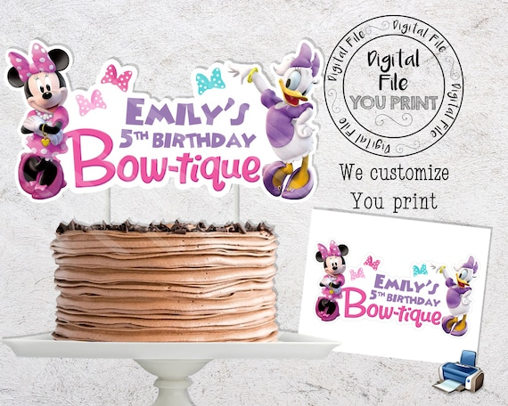 Minnie Mouse Birthday Party Decorations Minnie Happy Helpers Cake Topper Printable Minnie Mouse Cake Topper Minnie and Daisy Cake Topper