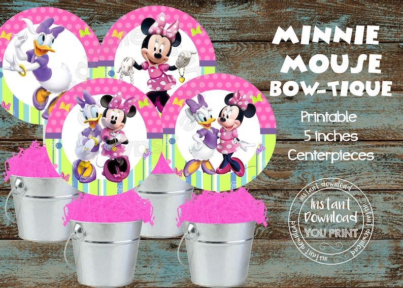 Printable Minnie And Daisy Centerpieces Mouse