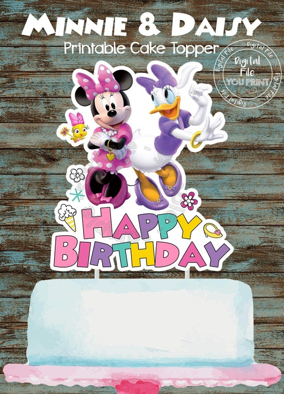 Stupendous Printable Minnie Mouse Cake Topper Minnie Mouse Birthday Etsy Funny Birthday Cards Online Elaedamsfinfo