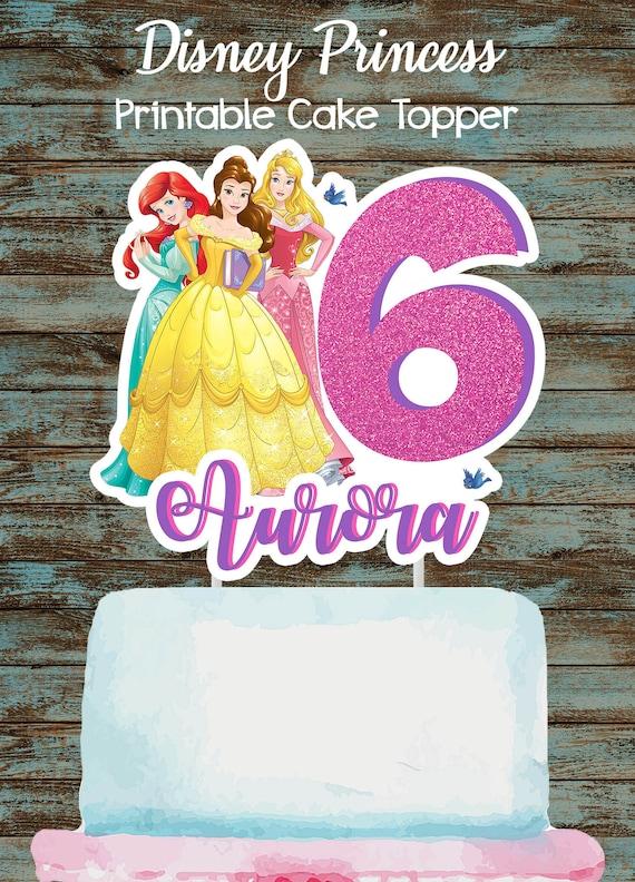 Printable Disney Princesses Cake Topper Printable Princess Etsy