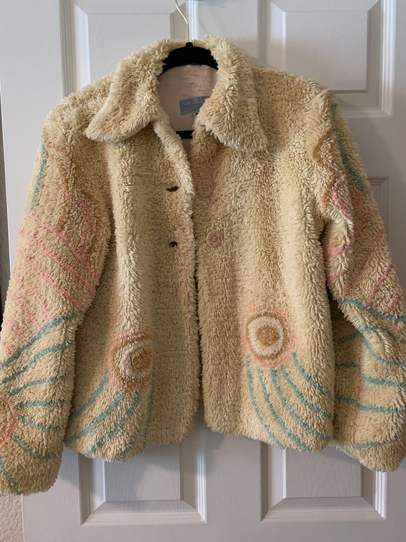Vintage Chenille jacket, Ladies small