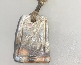 Primitive Fired Clay Pendant