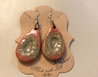 Ceramic and Glass Earrings